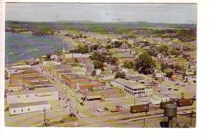 Aerial View, Blind River, Ontario, Train Cars and Tracts