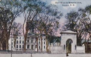New Hampshire Concord State House & Memorial Arch 1917