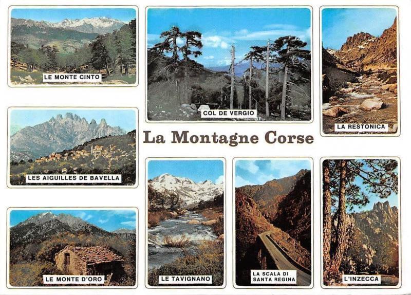 Carte Corse Monte Cinto.France La Montagne Corse Multiviews Col De Vergio La
