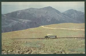 AUTO ROAD Mt Washington NH White Mountains Cog Railway Railroad Train Postcard