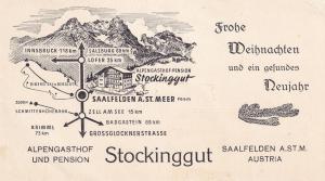 Saalfenden Map Signs Austria Alpengasthof Und Pension Hotel Ephemera
