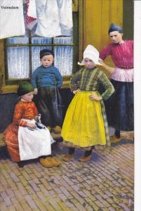VOLENDAM, Noord-Holland, Netherlands, 1900-1910's; Children In Their Native C...