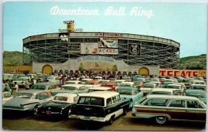 Tijuana, Mexico Postcard Downtown Bull Ring View from Parking Lot 1961 Cancel