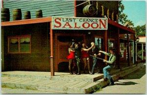1960s Oklahoma City ROUTE 66 Postcard FRONTIER CITY, U.S.A. Last Chance Saloon