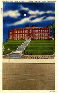 TN - Johnson City. Science Hill High School at night