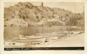 Boat Landing Lake Valentine Nebraska RPPC real photo postcard 12005