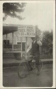 Social/Political History Socialist Party Candidate Bicycle Springvale ME RP myn
