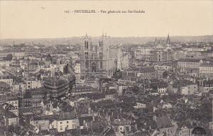 Belgium Brussels Vue generale sur Sainte Gudule