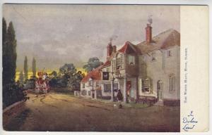 Raphael Tuck White Hart Hook Surrey Horses In Dickens Land Series Postcard