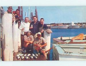 Pre-1980 FISHERMAN'S PARADISE - FISH CAUGHT LYING ON DOCK Long Island NY hp6942