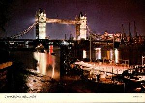England London Tower Bridge At Night