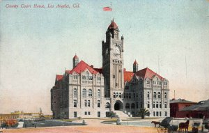 County Court House, Los Angeles, California, Early Postcard, Unused