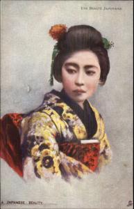 Beautiful Japanese Geisha Woman TUCK #538 - French Issued c1910 Postcard