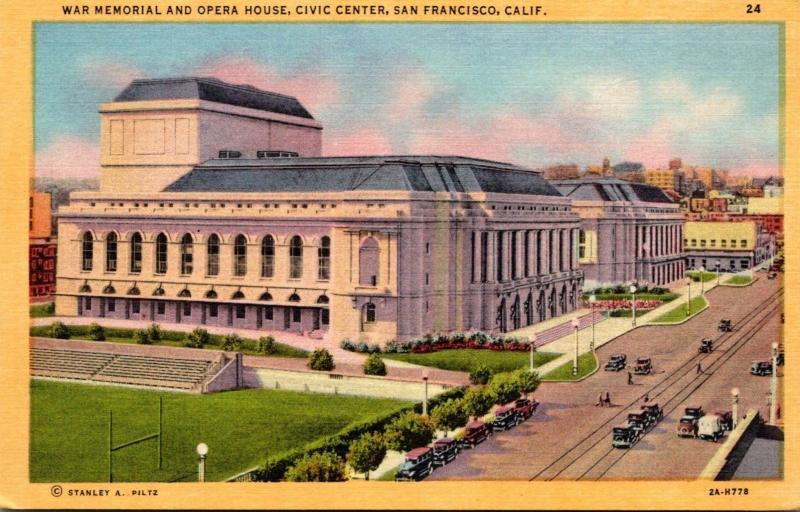 California San Francisco Civic Center War Memorial and Opera House