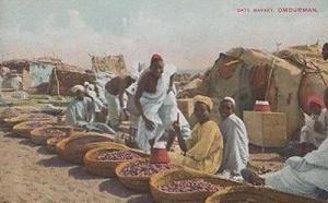 Date Market Traders Sudan Omdurman Antique Postcard