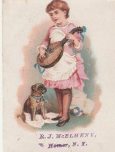 Chase & Smith Pianos at McElheny's - Victorian Trade Card - Homer NY, New York