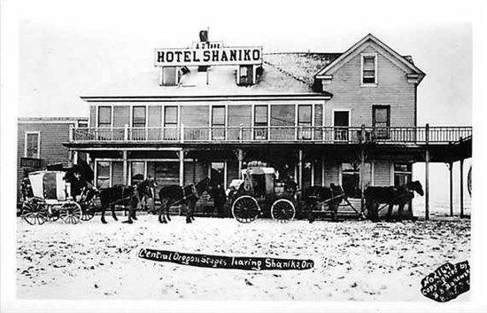 Or Shaniko Oregon Rppc Hotel Reproduction B Bakowski 2164