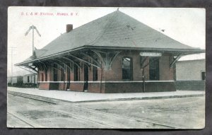 dc1838 - HOMER NY 1911 Train Station. Depot. Postcard