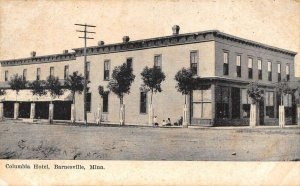 Barnesville Minneotsa view from street Columbia Hotel antique pc DD5497