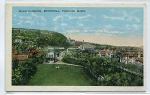Panorama McGill University Montreal Quebec Canada 1920s postcard