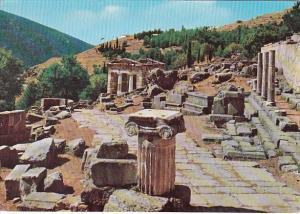 Greece Delphi The Portico and The Treasure Of The Athenians