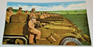 WWII WW2 1940s Tank Destroyers Line Camp Hood Texas Military Barton ARMY USA