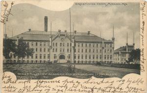 Macon Missouri~Fort Blees Military Academy~Gymnasium~1907 Art Nouveau PC