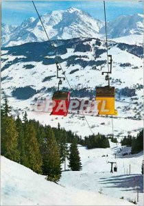 Modern Postcard The Ski Capital of Megeve (Haute Savoie) 1113 m Alt Telecabin...