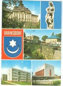 Czech Republic, VARNSDORF, 1980 used Postcard