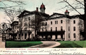 Wisconsin Janesville State Institute For The Blind 1906