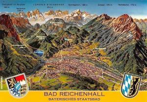 Bad Reichenhall Bayerisches Staatsbad Relief Karte von Studio hans Oberbacher