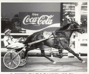 MEADOWLANDS, Harness Horse Racing, MOONSHAKER winner, 1989