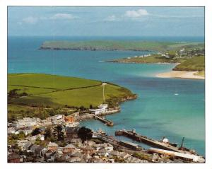Cornwall Postcard, Padstow from the Air, Aerial View S28