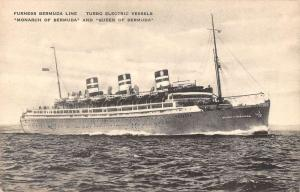 Furness Bermuda Line Monarch of Bermuda & Queen of Bermuda antique pc ZA440607