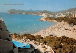 Spain Paguera Mallorca Hotel Swimming Pool Beach Plage