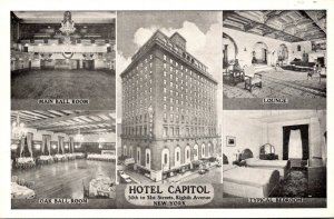 New York City Hotel Capitol Showing Lounge Main Ball Room Oak Ball Room & Typ...