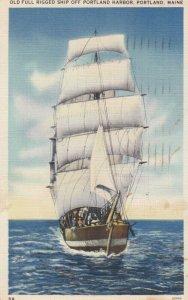 PORTLAND , Maine , 1938 ; Full Rigged Ship