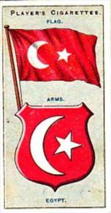 Player Cigarette Card Flags &  Emblems No 35 Egypt