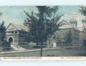 Pre-Chrome BUILDINGS SCENE Springfield Illinois IL AH6697