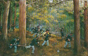 Union Soldiers Rushing Forward To Challenge Confederates On Sondgrass Hill