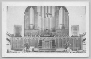 Stamford Texas~Pipe Organ @ St John's Methodist Church~Pulpit c1950 B&W