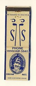Hingham, Mass/MA Matchcover, South Shore Country Club, Go...
