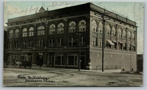 Jackson Tennessee~Elk's Building~Horse Drawn Hansom~1905 CU Williamss Photoette