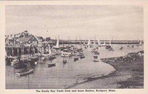 Massachusetts Rockport The Sandy Bay Yacht Club And Inner Harbor Albertype