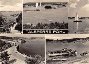 Talsperre Poehl, See Schiff Ship Lake Road Auto Cars General view