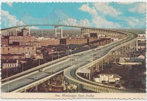 New Mississippi River Bridge, New Orleans, 1977 used Postcard