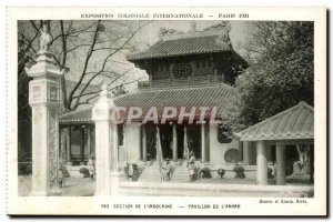 Old Postcard International Colonial Exposition Paris 1931 Section Of The Indo...