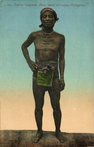 philippines, Luzon Abra, Typical Native Tinguiane Male (1910s) Postcard