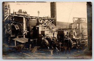 Tremp Catalonia~Desmuntant La Planta~Workers Dismantle Cement Plant RPPC 1915