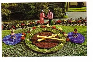 People Posing with Flower Clock, Cypress Gardens, Florida,
